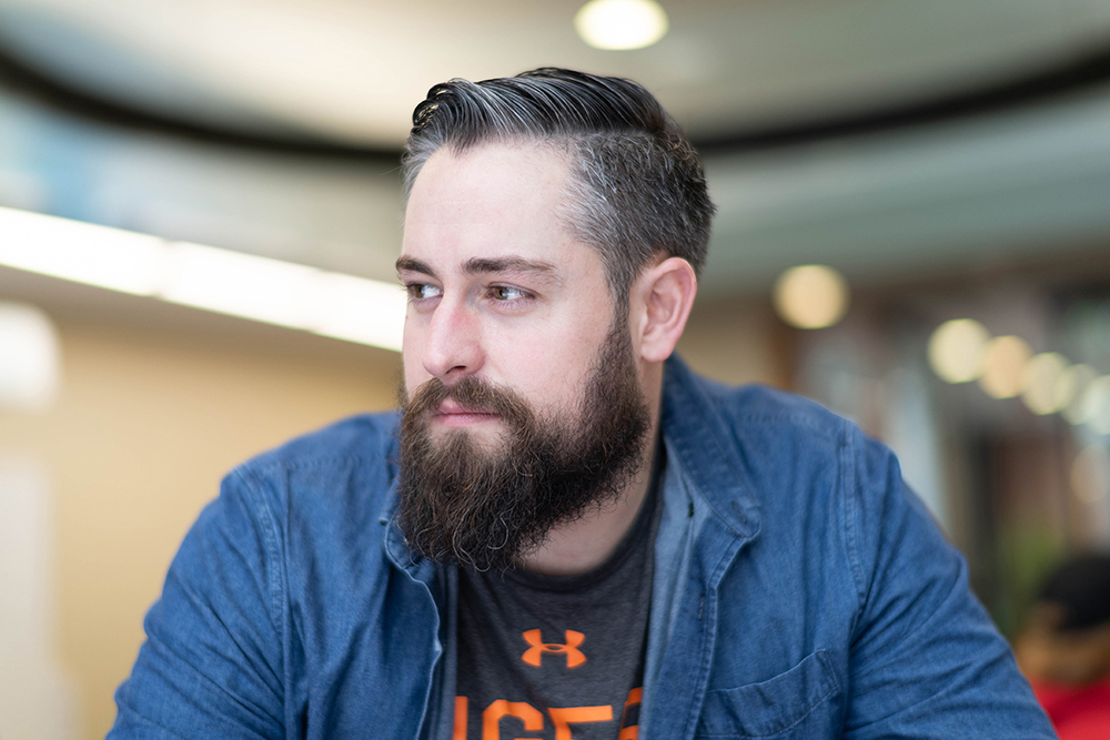 Ryan Carpenter, 29, spent four years in the military before deciding to enroll at RIT. Photo by Jasmine Lin
