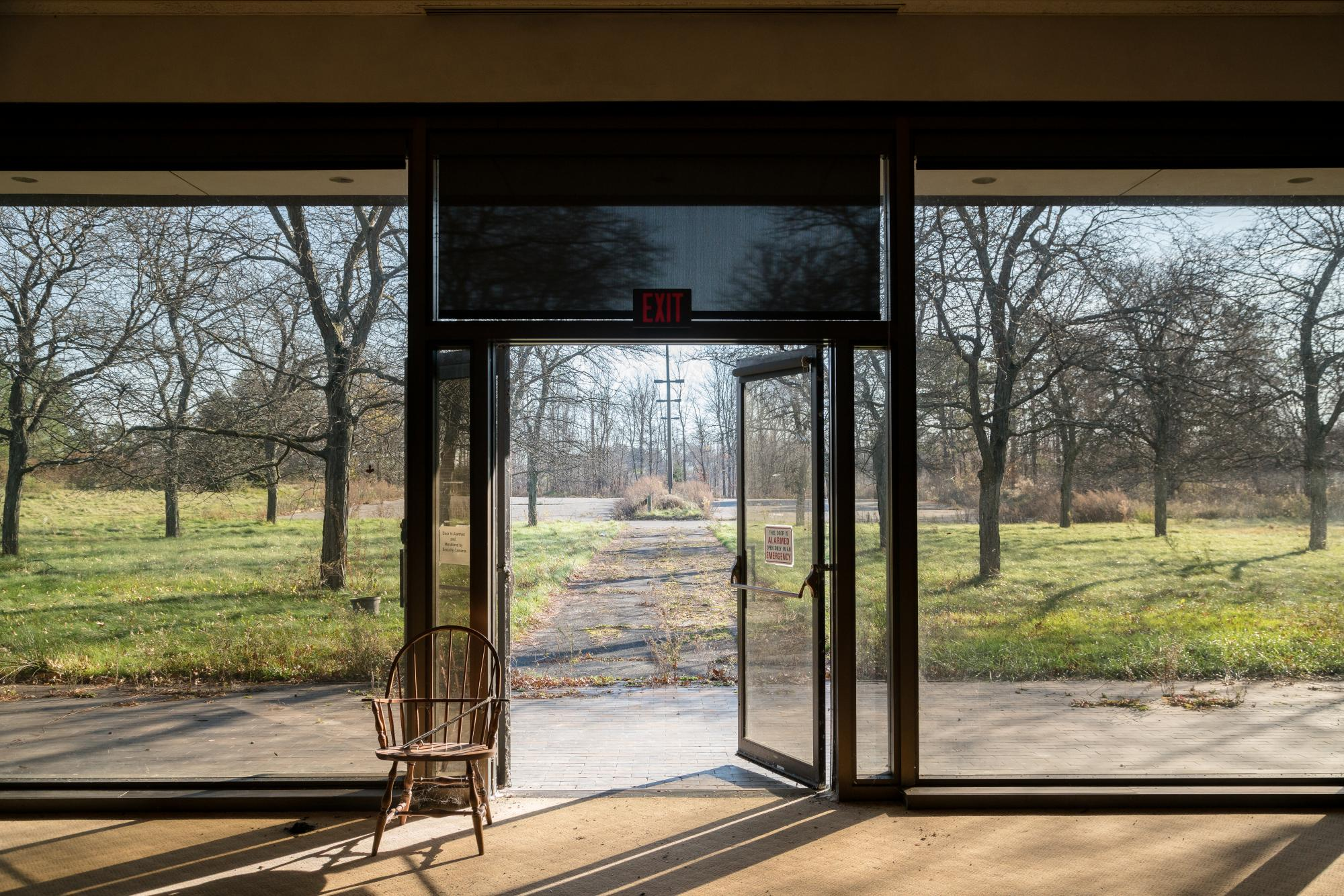 A view of the Riverwood campus from inside. Photograph by Rob Rauchwerger.