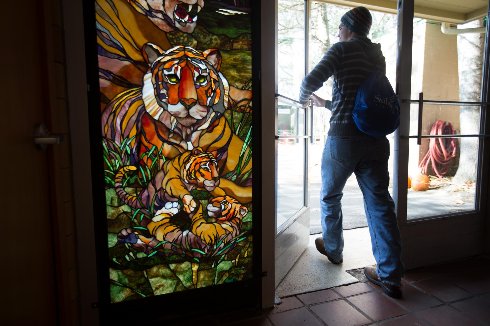 A Tigers for Tigers member attends the club's trip to the Seneca Park Zoo on Nov. 14, 2015. Photograph by Joey Ressler.