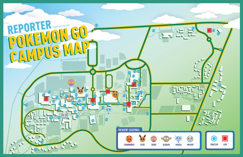 Pokémon go campus map guide